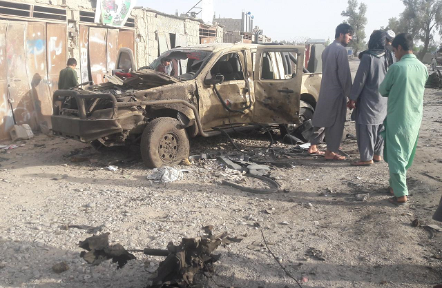 afghan fighting continues as taliban cleared from western city