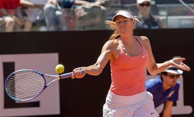 svitolina sharapova through to next round of italian open