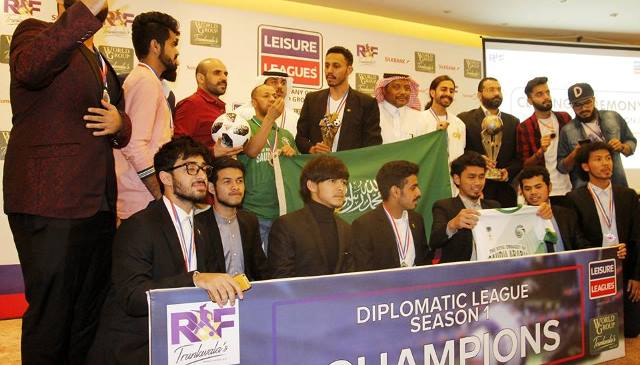 saudi embassy b victorious in first ever diplomatic football league