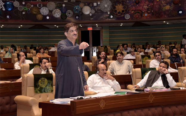 mentioning the house rules the cm said five days were fixed for post budget debate in the session but the sindh government allowed opposition members to continue the debate for eight days photo nni
