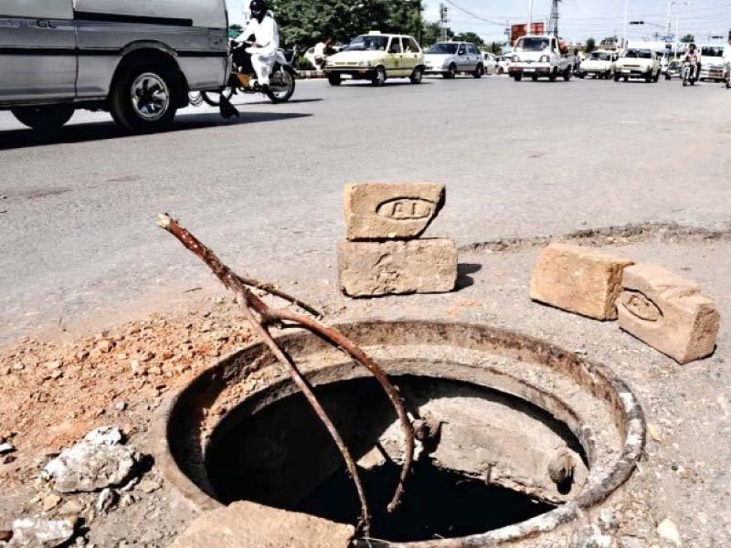 open manholes pose threat to citizens in sargodha