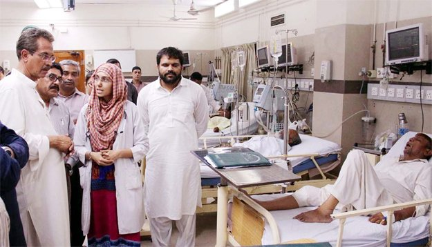 no political flags banners allowed inside abbasi shaheed hospital directs mayor