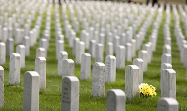 Names of slain soldiers are engraved on epitaphs. PHOTO: REUTERS