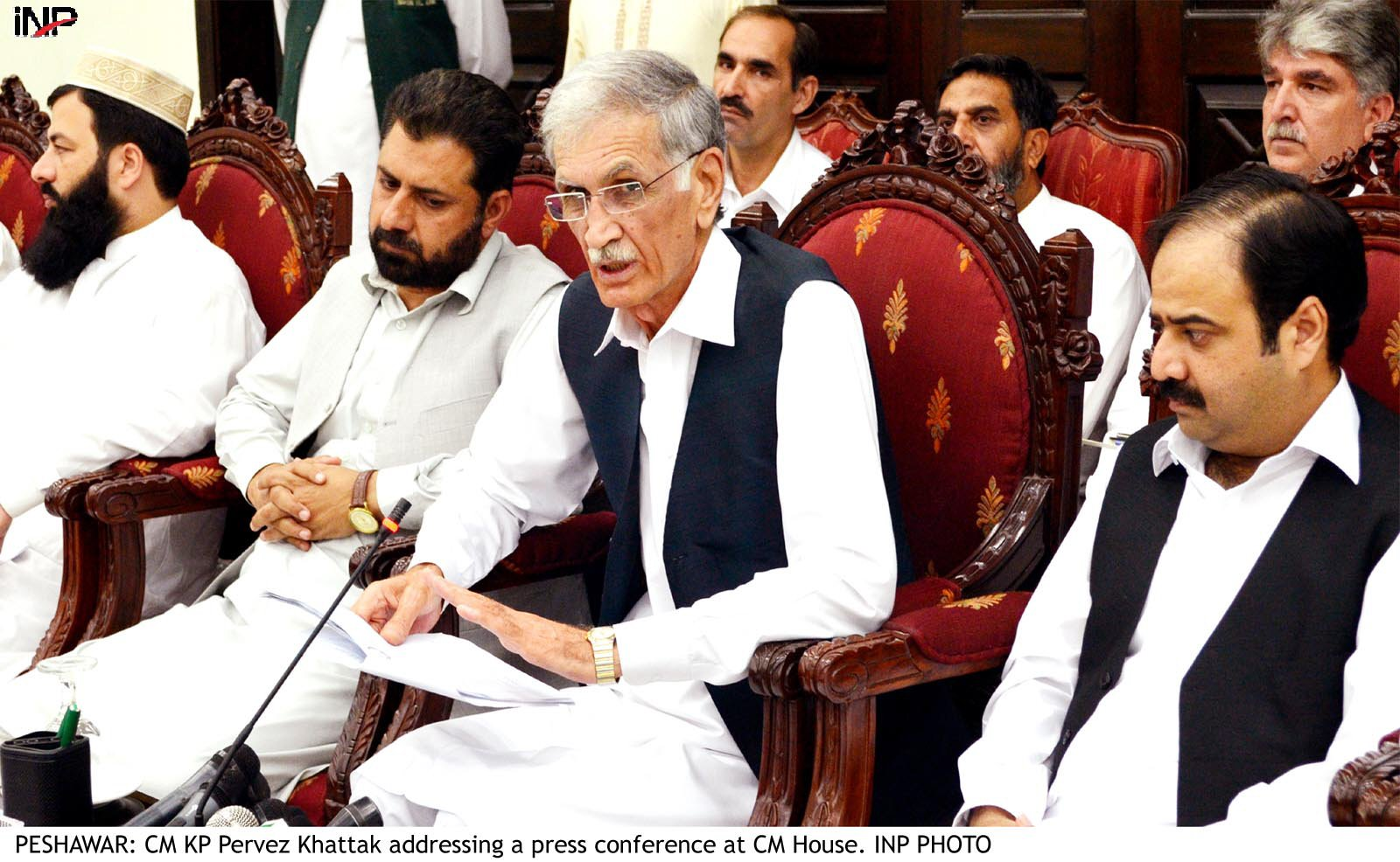 k p caretaker cm to be decided by parliamentary committee