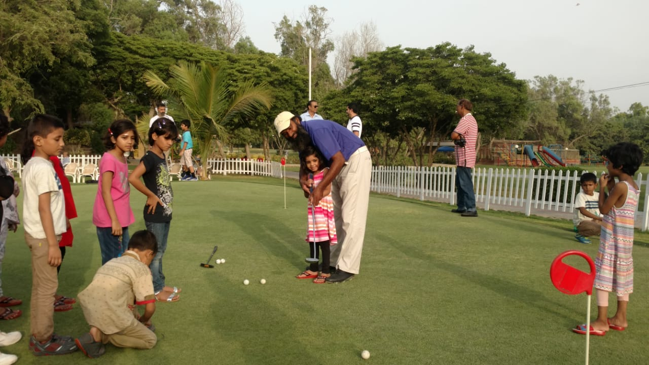 orphans in love with golf after visiting the course
