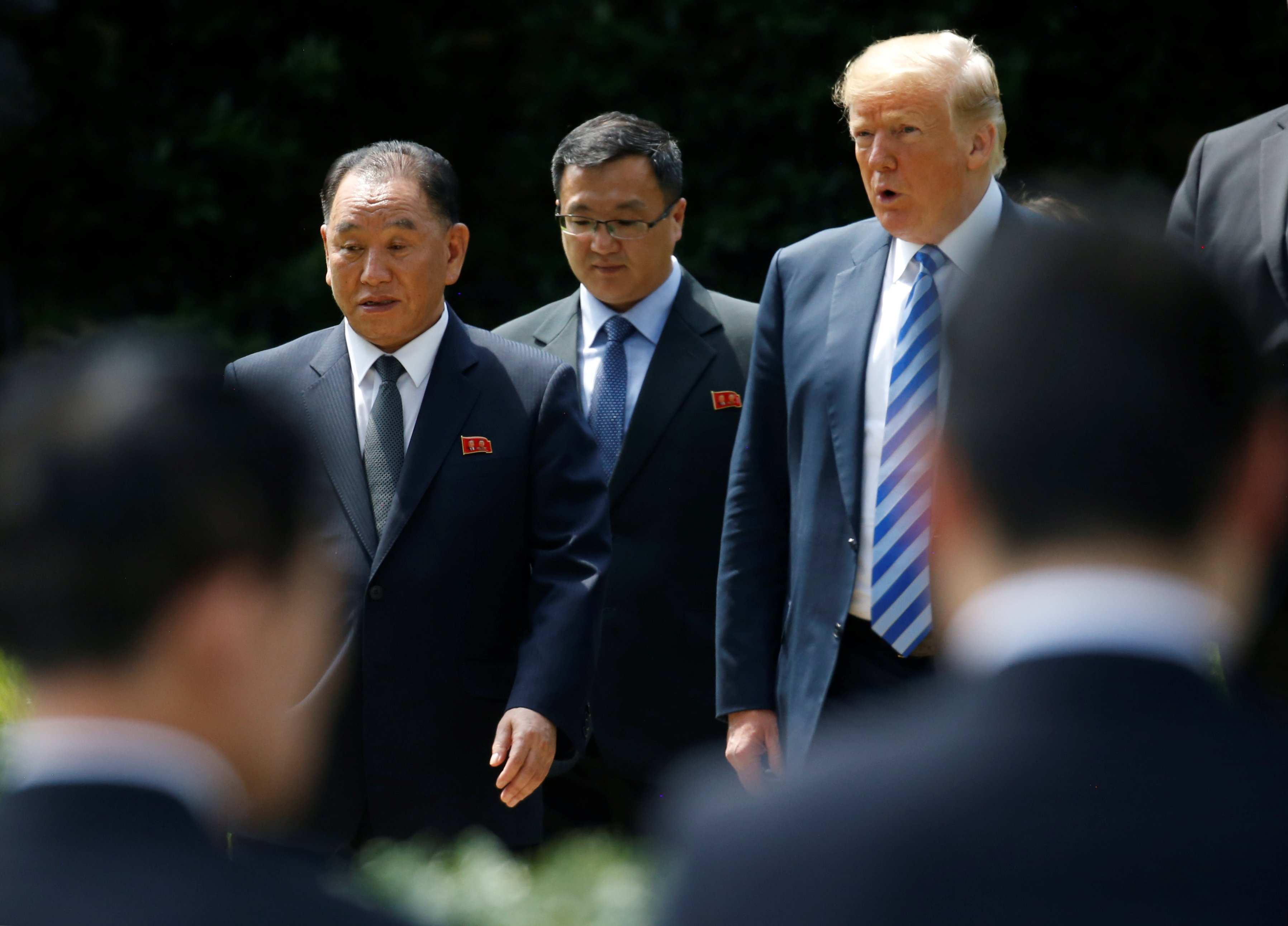 new twist to diplomatic dance trump says north korea summit now on