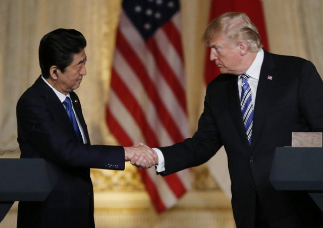 japan pm seeks trump s assurances over north korea in latest two way chat