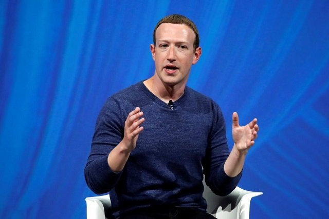 Facebook's founder and CEO Mark Zuckerberg speaks at the Viva Tech start-up and technology summit in Paris, France, May 24, 2018. PHOTO: REUTERS
