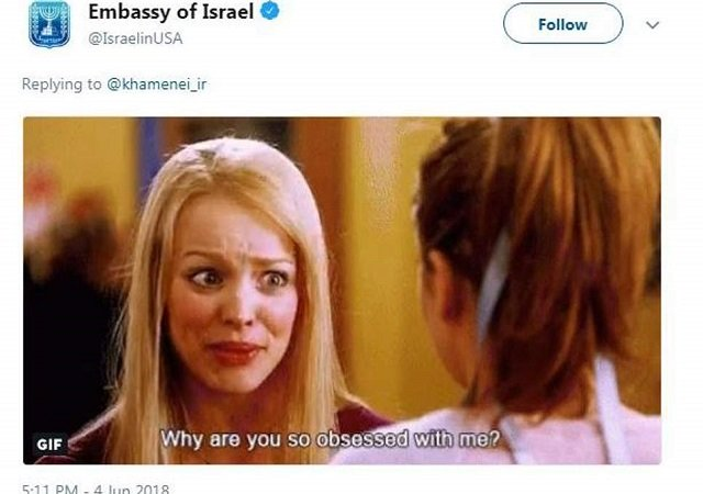 While embassy responds with a joke, Israeli President Benjamin Netanyahu does not discount threats by Khamanei  PHOTO COURTESY: THE INDEPENDENT