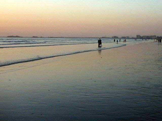sea view karachi is depicted here photo file