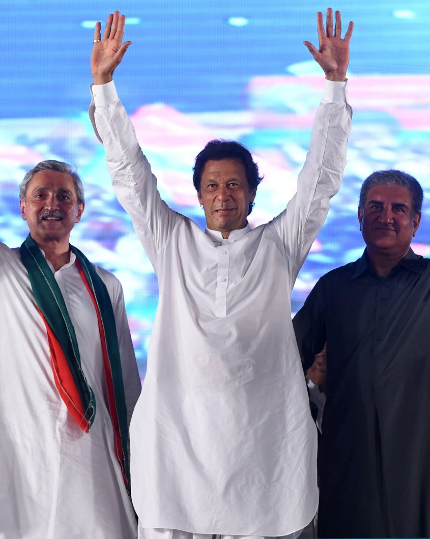 imran khan to contest on four national assembly seats in the forthcoming general elections photo afp file