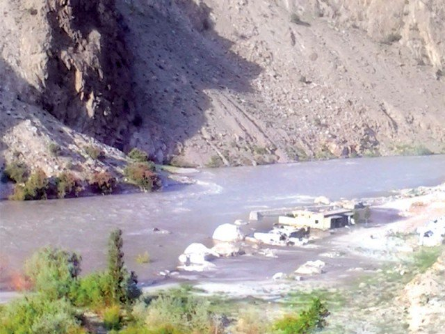 The situation has improved in the reservoirs before the pre-monsoon showers in the country due to melting of glaciers.  PHOTO: SHABBIR MIR/ EXPRESS