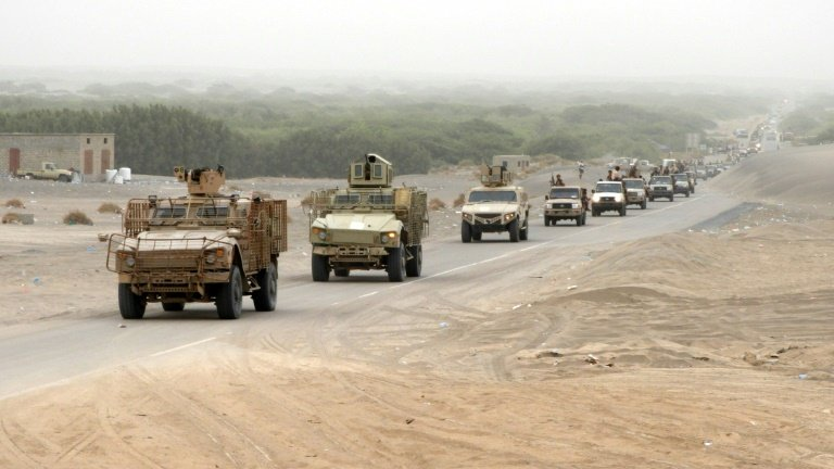 Nine pro-government troops have been killed in Hodeida,Yemen's rebels suffer 30 fatalities in the clashes. PHOTO: AFP.