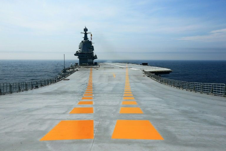 china s first domestically manufactured aircraft carrier during its sea trials photo afp