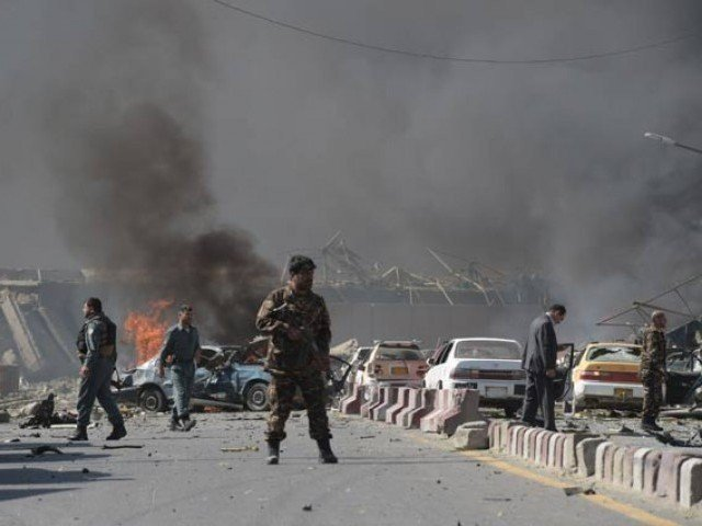 an afghan security source confirmed the suicide attack and death toll photo afp