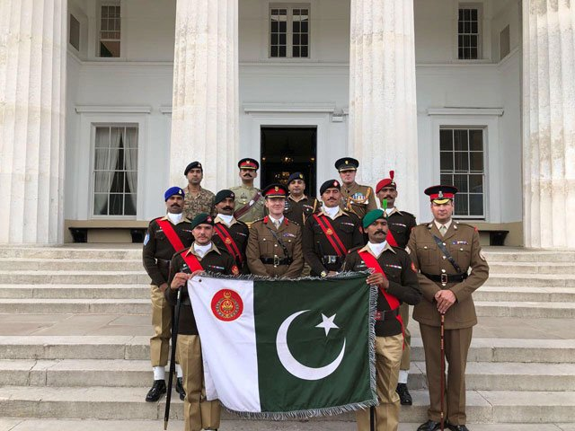 The Pace Sticking Competition was held at Royal Military Academy, Sandhurst. PHOTO: ISPR