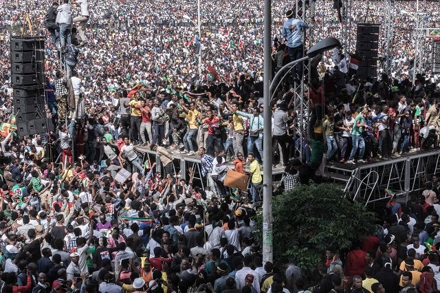 scores injured in grenade blast at ethiopian pm s rally
