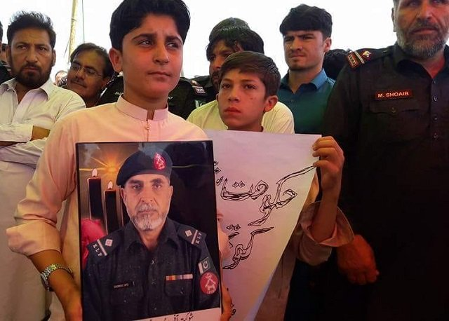 children of martyred levies personnel demand rights at khyber protest