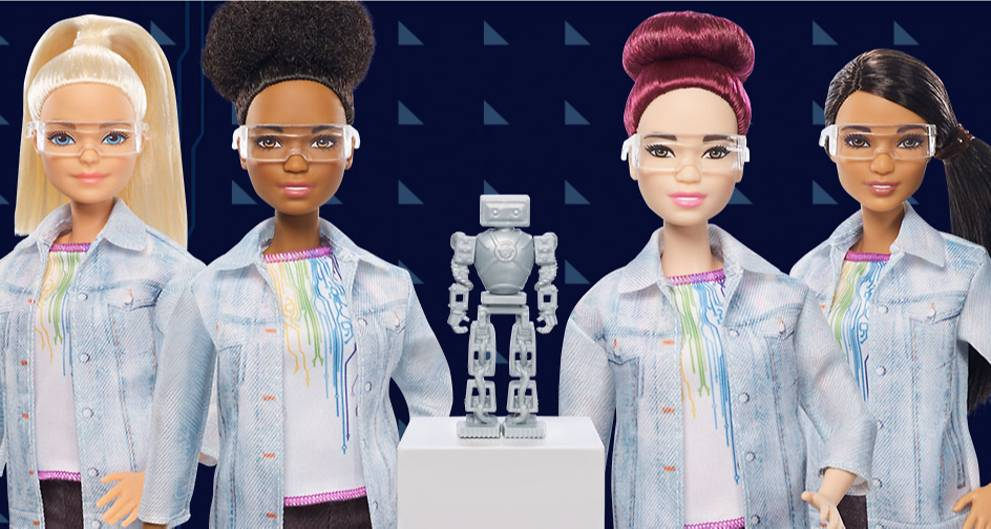 robotics barbie encourages young girls to take up male dominated careers
