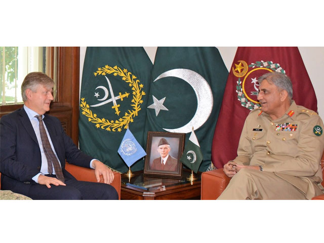 COAS affirmed that Pakistan will continue to play its positive role for maintaining international peace. PHOTO: ISPR