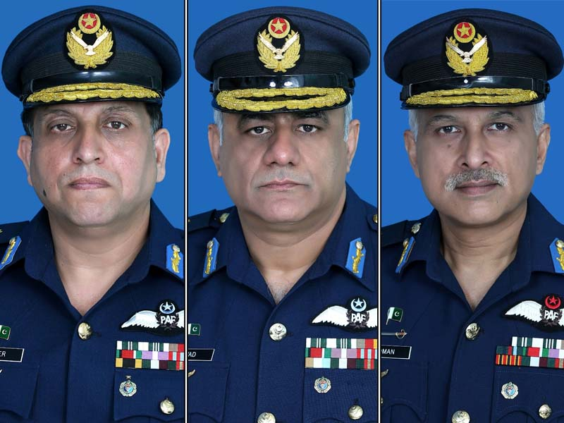 three paf officers promoted to air marshal rank