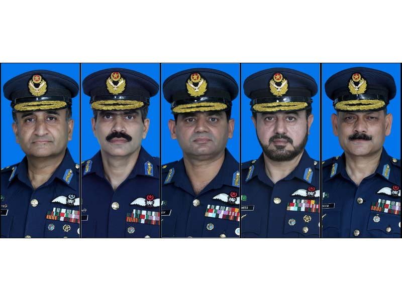 five paf air commodores promoted to air vice marshal rank