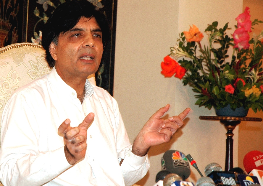 Former interior minister Chaudry Nisar Ali Khan. PHOTO: FILE