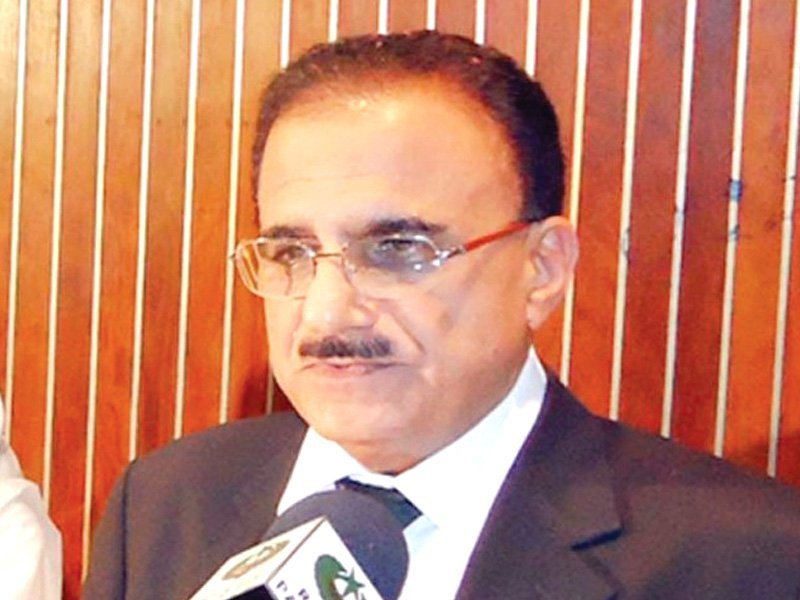 a file photo of former supreme court justice dost muhammad khan photo file