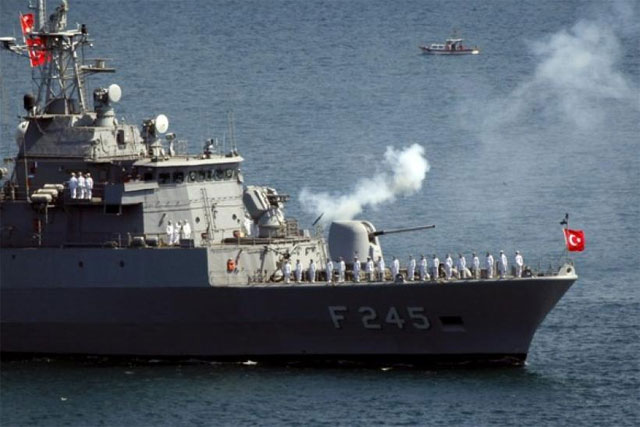 Pakistan Navy has signed a contract for acquisition of 4 x MILGEM Class Ships with M/S ASFAT A S Turkey. PHOTO: REUTERS