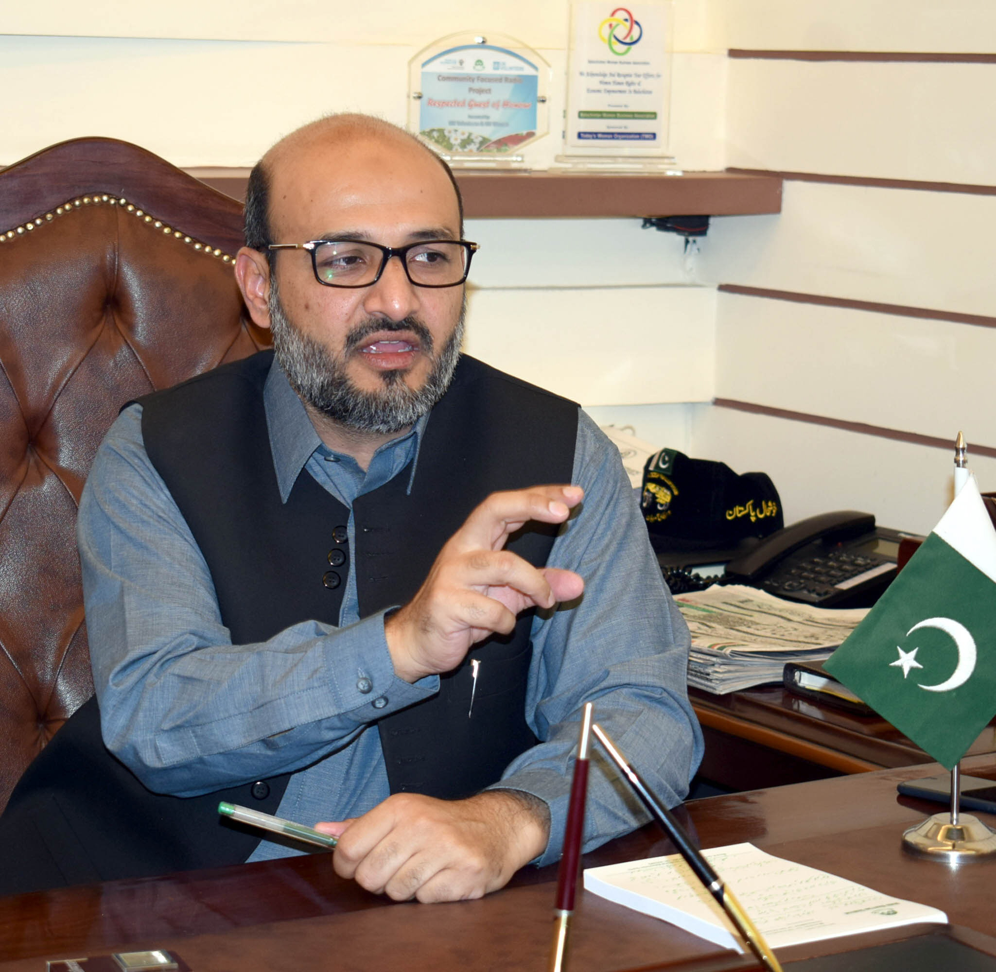 Interim Balochistan Minister for Information Malik Khuram Shahzad. PHOTO: EXPRESS
