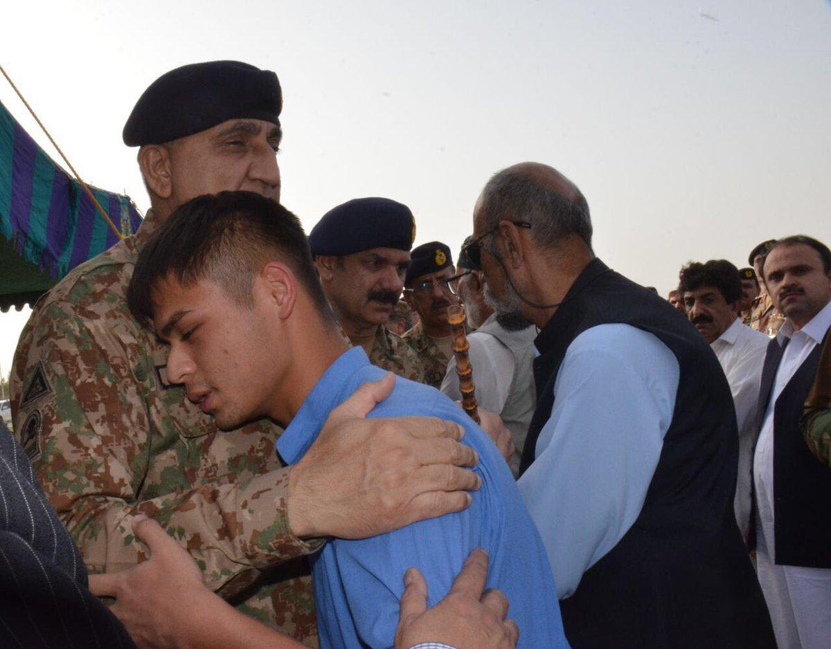 army chief pays rich tribute to soldier of pakistan siraj raisani