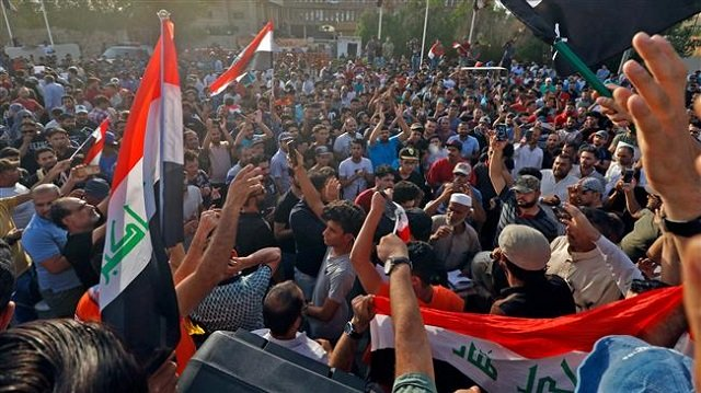 iraqi protesters demonstrate against unemployment photo afp