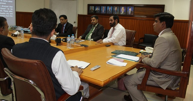 DG NAB wants immediate action on complaints against projects related to water and health. PHOTO: NAB BALOCHISTAN