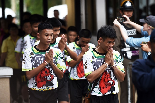 thai cave boys speak of miracle rescue after hospital discharge