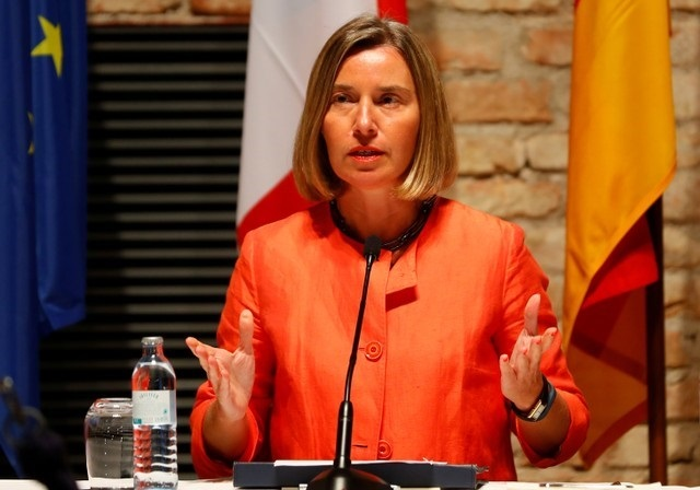 FILE PHOTO: European Union High Representative for Foreign Affairs and Security Policy Federica Mogherini. PHOTO: REUTERS/FILE