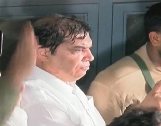 Hanif Abbasi was arrested from the premises of the court soon after the sentence was announced. SCREENGRAB