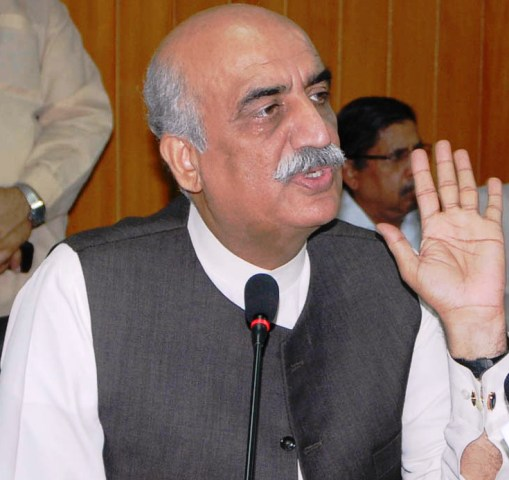 Former leader of opposition in the National Assembly Khursheed Shah. PHOTO: PID/FILE