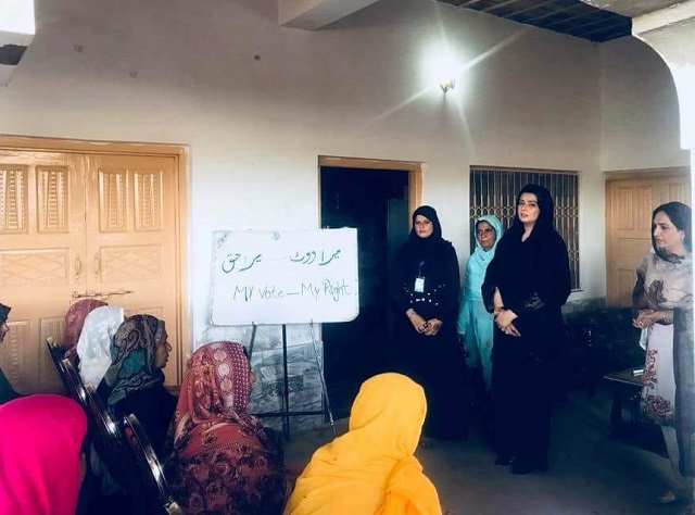 in a historic first women cast votes in remote punjab village