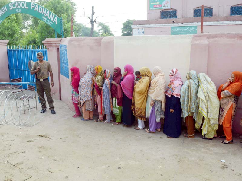 voters leave polls dishevelled