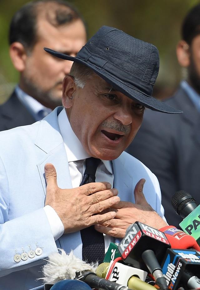 Shehbaz Sharif.  PHOTO: AFP