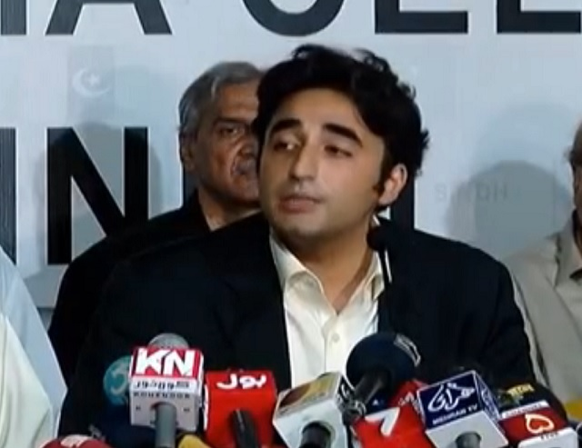 Bilawal announces forming fact-finding committee to decide future course of action. SCREENGRAB