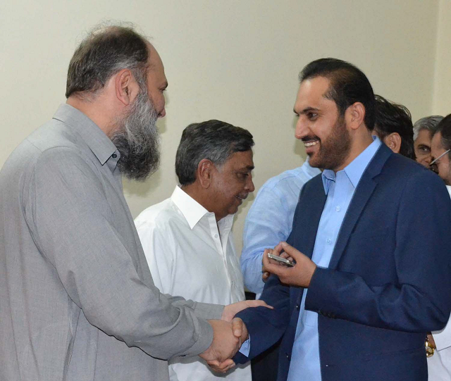 balochistan awami party president jam kamal meets former chief minister abdul quddus bizenjo one of them is expected to become the next balochistan cm photo express
