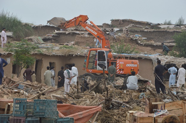 Pakistan Quarter residents protest forcible eviction by Estate Staff. PHOTO: FILE