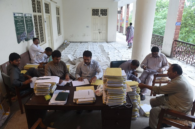 ecp order re polling in two constituencies photo afp