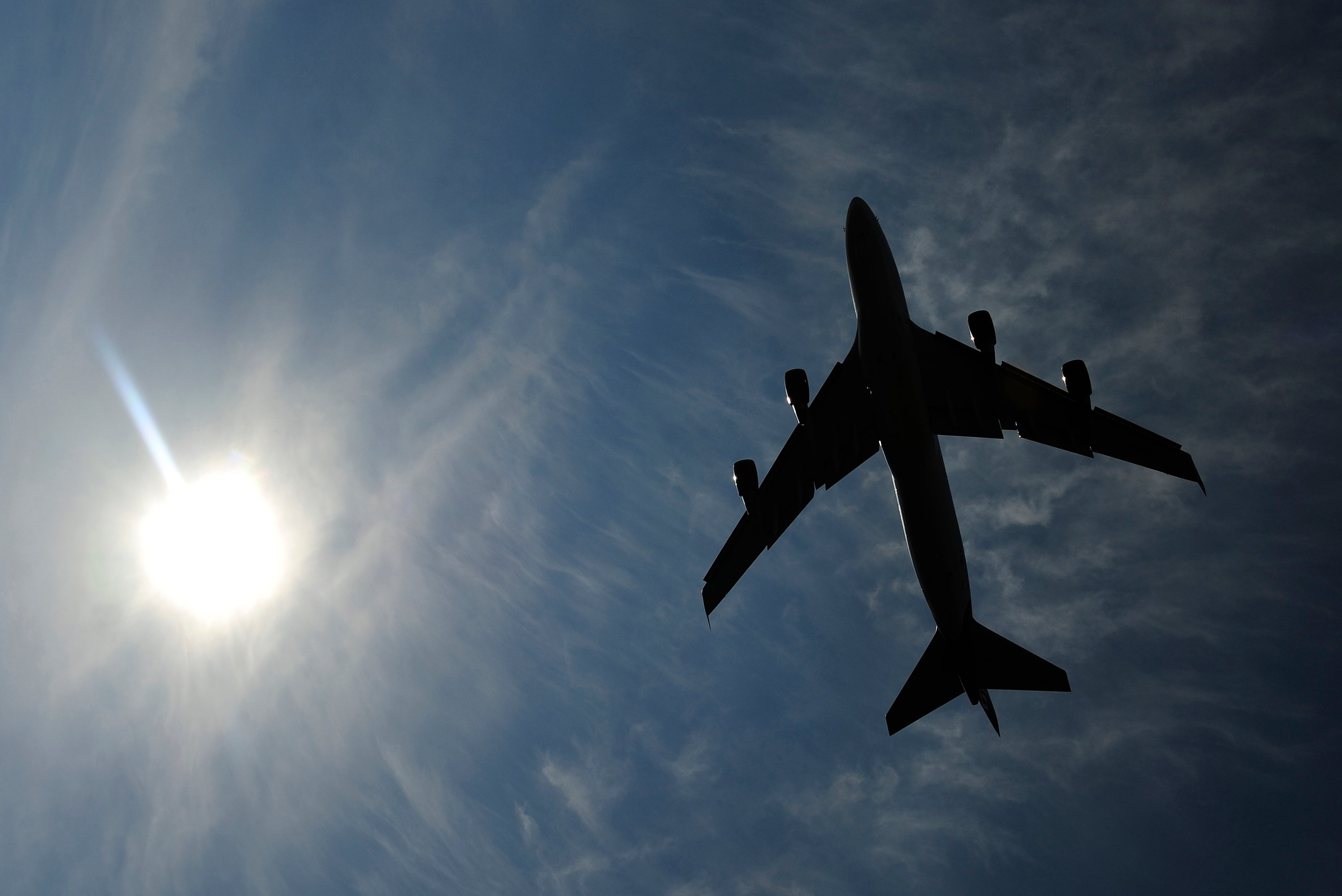 Representational image of an airplane. PHOTO: REUTERS