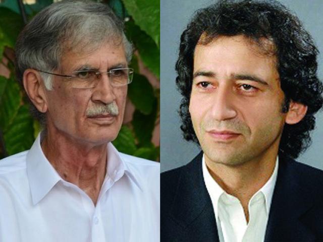 pervez khattak atif khan in the run for k p cm slot