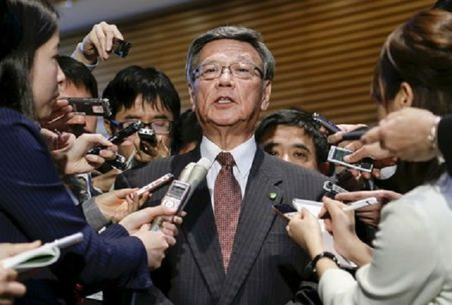 anti us base governor of japan s okinawa dies of cancer