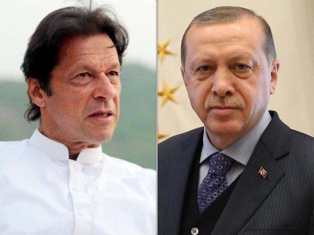 Imran Khan and Recep Tayyip Erdogan. PHOTO: EXPRESS/FILE
