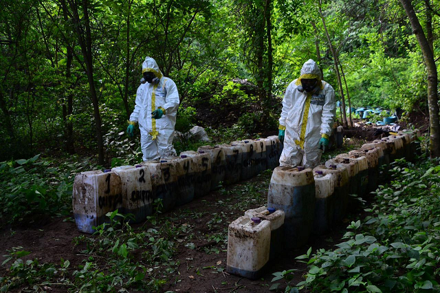 mexico navy says finds 50 tons of meth in mountain lab