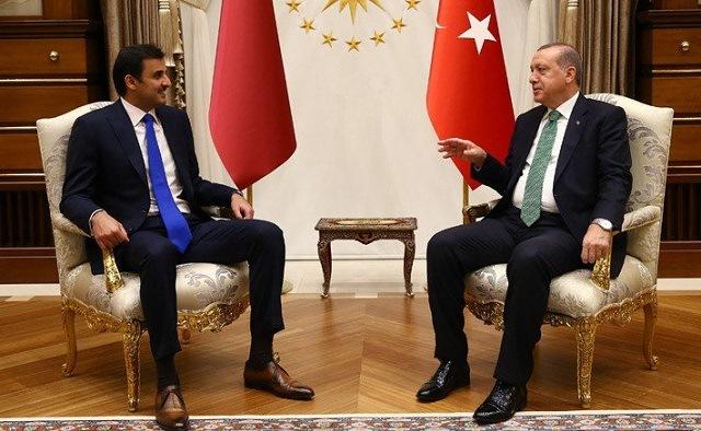 qatar emir sheikh tamim bin hamad al thani and president recep tayyip erdogan of turkey photo afp file